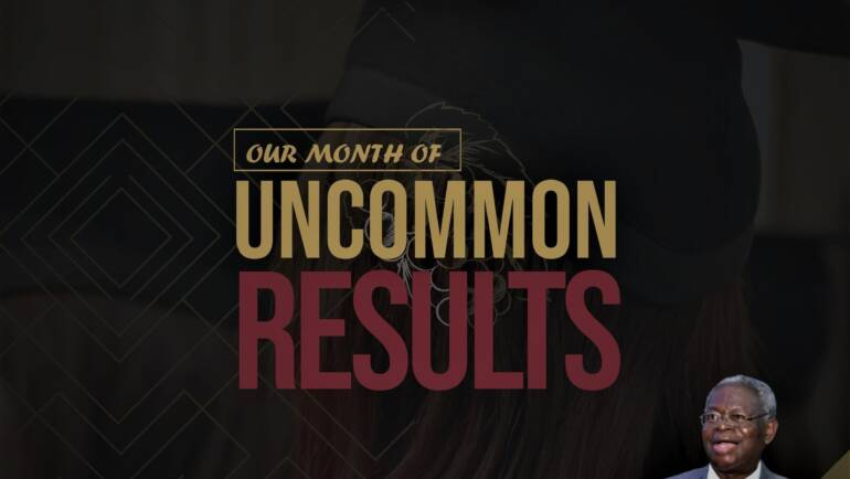 November 2020 – Our Month of Uncommon Results