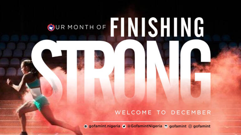 December 2020 – Our Month of Finishing Strong