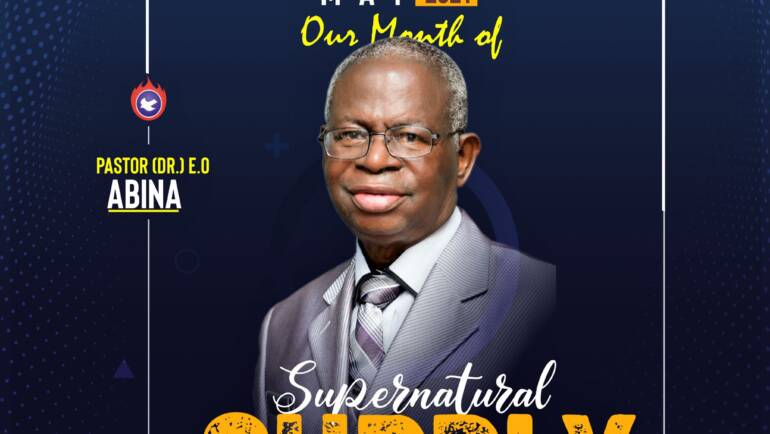 May 2021 – Our Month of Supernatural Supply
