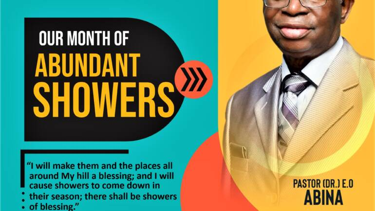 July 2021 – Our Month of Abundant Showers